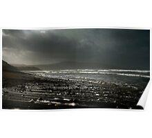 Storm Shingle, Strandhill, Co Sligo, Ireland Poster