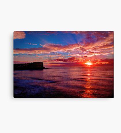 Hot Avalon Sunrise Canvas Print