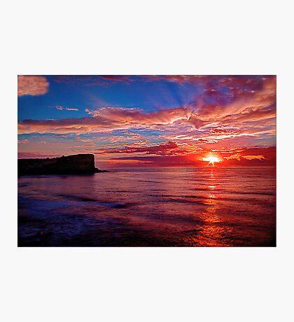 Hot Avalon Sunrise Photographic Print