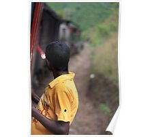 Train travel in Sri Lanka Poster
