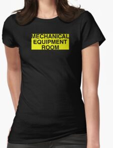Mechanical Equipment Room Womens Fitted T-Shirt