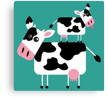 Cute Cows Canvas Print