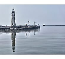 Historic Lighthouse on Lake Erie Photographic Print