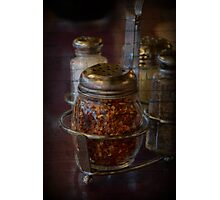 Red Pepper Flakes with Brick Photographic Print