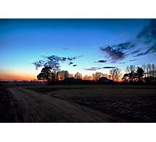 Sunset in the charming village. Photographic Print