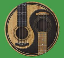 Old and Worn Acoustic Guitars Yin Yang Baby Tee