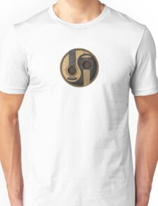 Old and Worn Acoustic Guitars Yin Yang Unisex T-Shirt