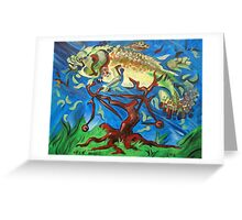 Fish on a Bicycle in a Tree Greeting Card