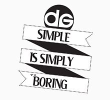 Simple is Simply Boring (On White) T-Shirt