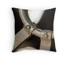 Metal Ring Abstract Throw Pillow