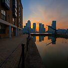 Canary Wharf Sunrise by DonDavisUK