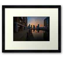 Canary Wharf Sunrise Framed Print