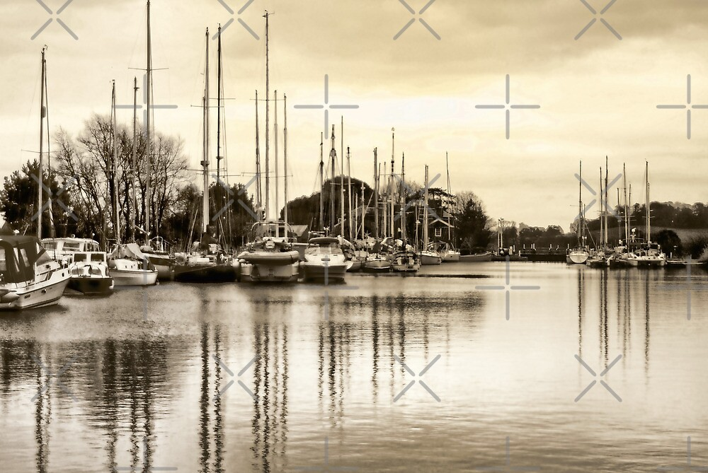 Exeter Ship Canal by Catherine Hamilton-Veal  ©