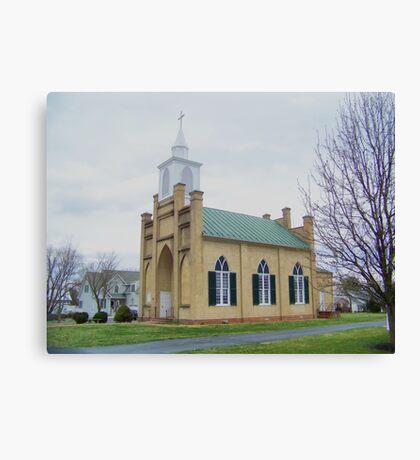 Little Country Church Canvas Print