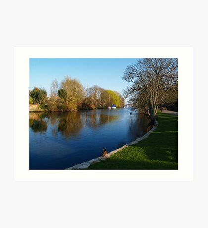 Peaceful River 2 Art Print