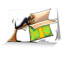 Surprise Me Airedale Greeting Card