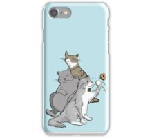 Matt's Cats (blue background) iPhone Case/Skin