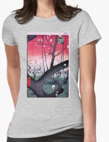 Japanese Print: Cherry Blossoms - Red T-Shirt