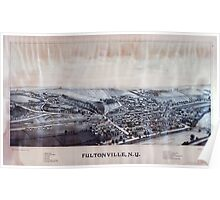 Panoramic Maps Fultonville NY Poster