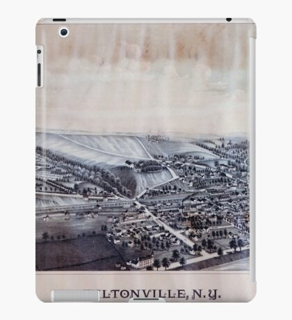 Panoramic Maps Fultonville NY iPad Case/Skin