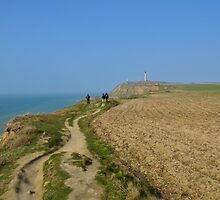 Hiking on the cliffs in Nord-Pas-de-Calais by 7horses