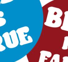 True or False Sticker