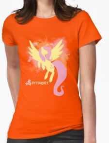 Fluttershy Silhouette Womens Fitted T-Shirt