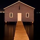 little boatshed on the river by mellychan