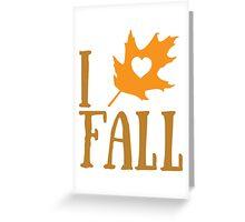 I <3 Fall Greeting Card