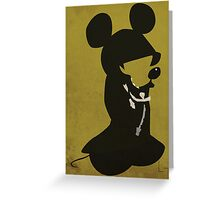 King Mickey Greeting Card