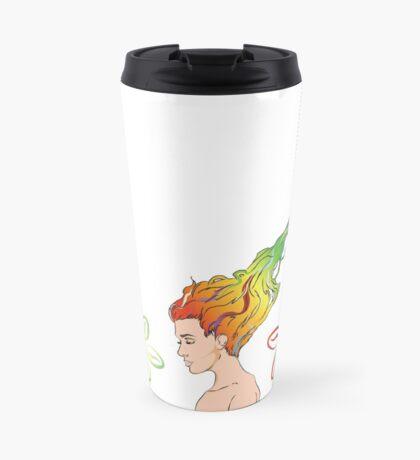 Coffee Flowers Travel Mug