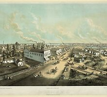 Panoramic Maps Oshkosh Wis From HL Cottrill's Block lith published by Kurz Seifert Milwaukee Wis ; drawn after nature by L Kurz 2 by wetdryvac