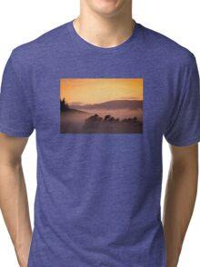Foggy Orange Sunrise Tri-blend T-Shirt