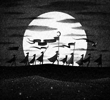 Drawlloween 2015: Moon by brianluong