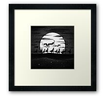 Drawlloween 2015: Moon Framed Print
