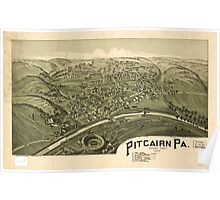 Panoramic Maps Pitcairn Pa Allegheny County 1901 Poster