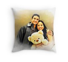 I Just Want to be Your Little Teddy Bear. Throw Pillow