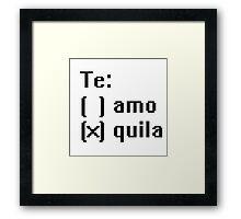 Tequila - Te! Framed Print