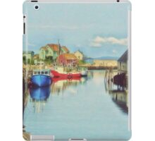 Peggys Cove Village Nova Scotia Canada iPad Case/Skin