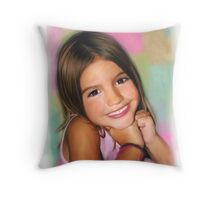 Haileys Beautiful Smile Throw Pillow