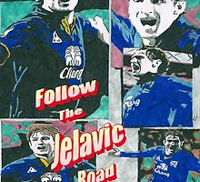 Nikica Jelavic Wembley 2012 Everton Poster by chrisjh2210