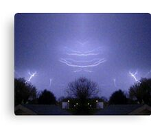 March 19 & 20 2012 Lightning Art 48 Canvas Print