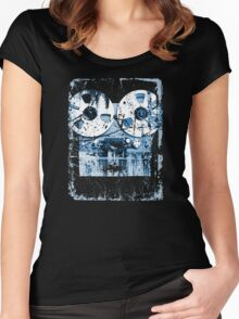 Damaged tape recorder Women's Fitted Scoop T-Shirt