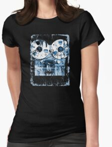 Damaged tape recorder Womens Fitted T-Shirt
