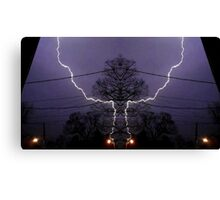 March 19 & 20 2012 Lightning Art 81 Canvas Print