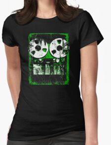 Damaged tapes recorder 2 Womens Fitted T-Shirt