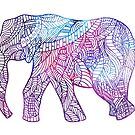 Elephant of lines by jem16