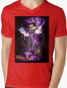 DBZ Tesla Mens V-Neck T-Shirt