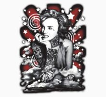 Ms Marilyn Suicide I (Sticker) Red by VON ZOMBIE ™©®