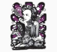 Ms Marilyn Suicide I (Sticker) Purple by VON ZOMBIE ™©®
